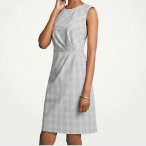 Ruched Glen Plaid Sheath Dress Ann Taylor